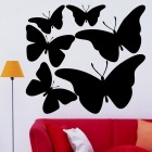 Decal butterfly set for interior design 6 pcs. IV