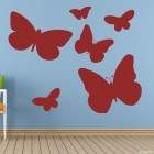 Decal butterfly set for interior design 6 pcs. III