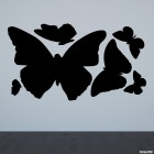 Decal butterfly set for interior design 6 pcs.