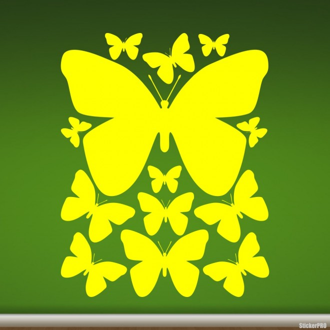 Decal butterfly set for interior design
