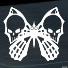Decal butterfly with a skull and crossbones on the wings