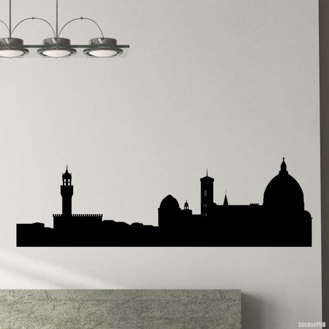 Decal Florence skyline