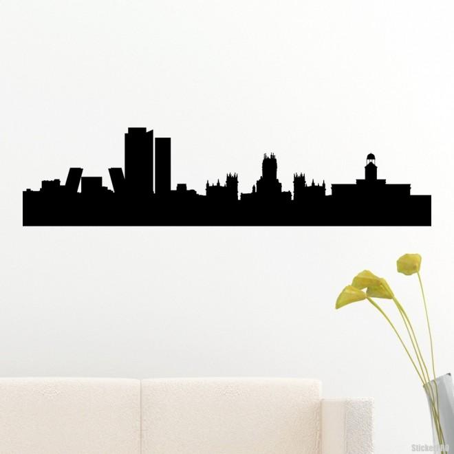 Decal Madrid skyline