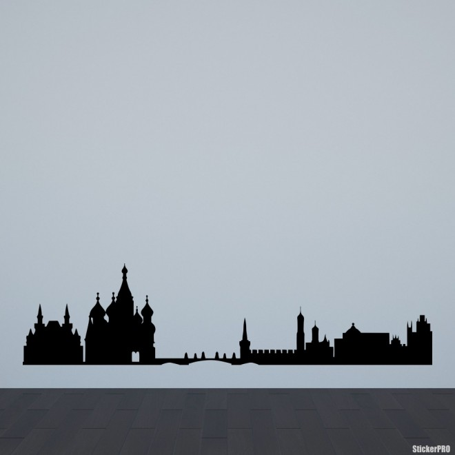 Decal Moscow skyline