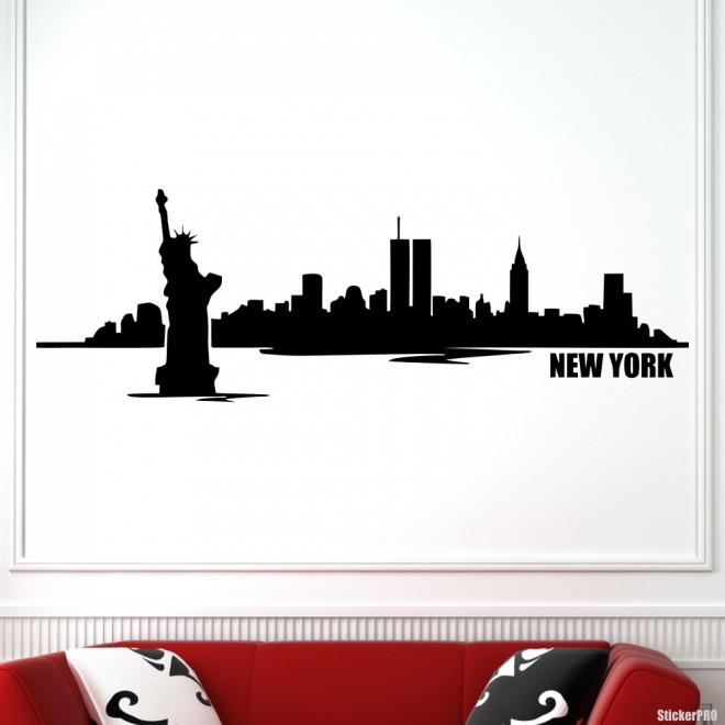 Decal New York skyline 3