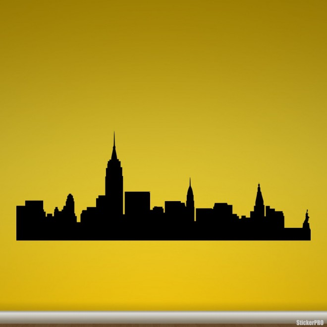 Decal New York skyline