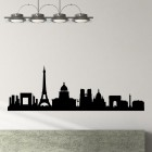 Decal Paris skyline