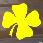 Decal clover shamrock for good luck