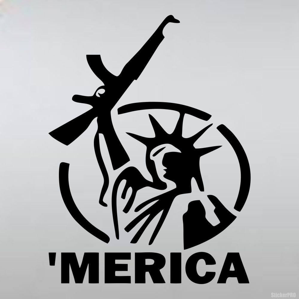 With ak 47 parody on the statue of liberty buy vinyl decals for car