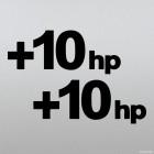 Decal +10hp plus ten horsepower sticker