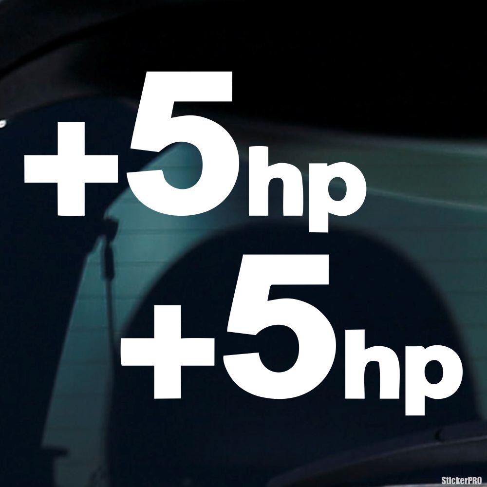 +5hp PLUS 5 HP Multiple Colors Car Decal Sticker