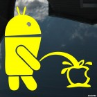 Decal Android pissing on Apple