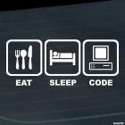 Decal Eat, Sleep, Code JDM parody