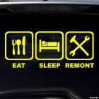 Decal Eat, Sleep, Remont JDM parody