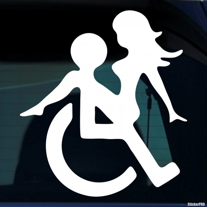 Decal sex in a wheelchair