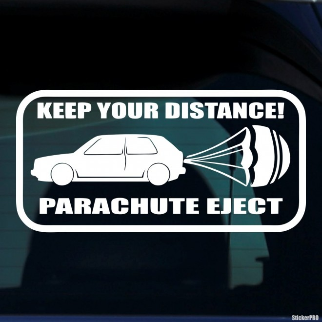 Decal Keep Your Distance Parachute Eject