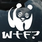 Decal panda WTF What the Fuck?