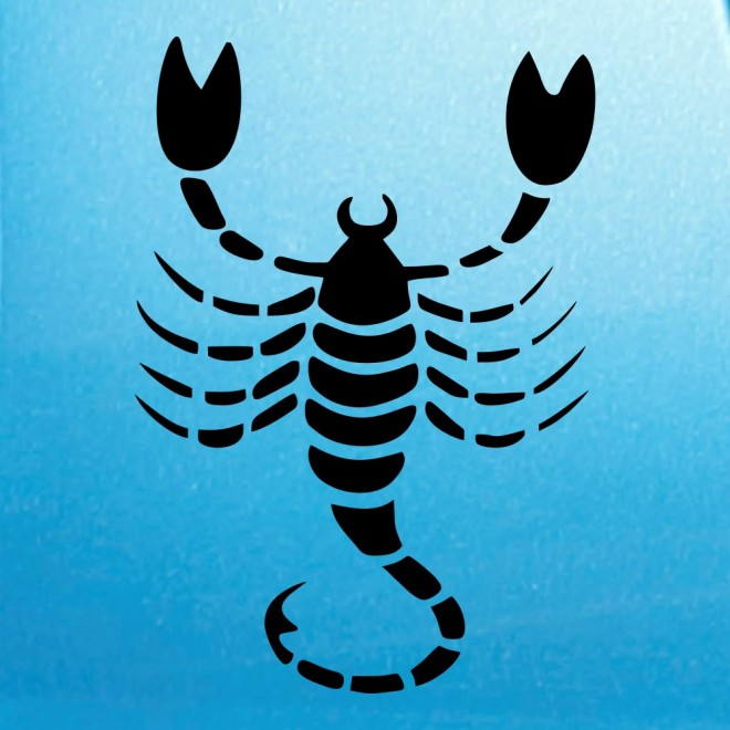 Decal Astrological sign Scorpio (v.II)