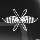 Decal Air Force wings and propeller