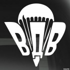 Decal Airborne Russia Parachute with fang