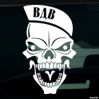 Decal Airborne troops. Skull in beret