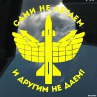 Decal Air Defense forces Russia We do not fly, and others do not give!
