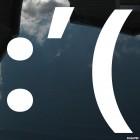 Decal crying upset smiley symbols :'(