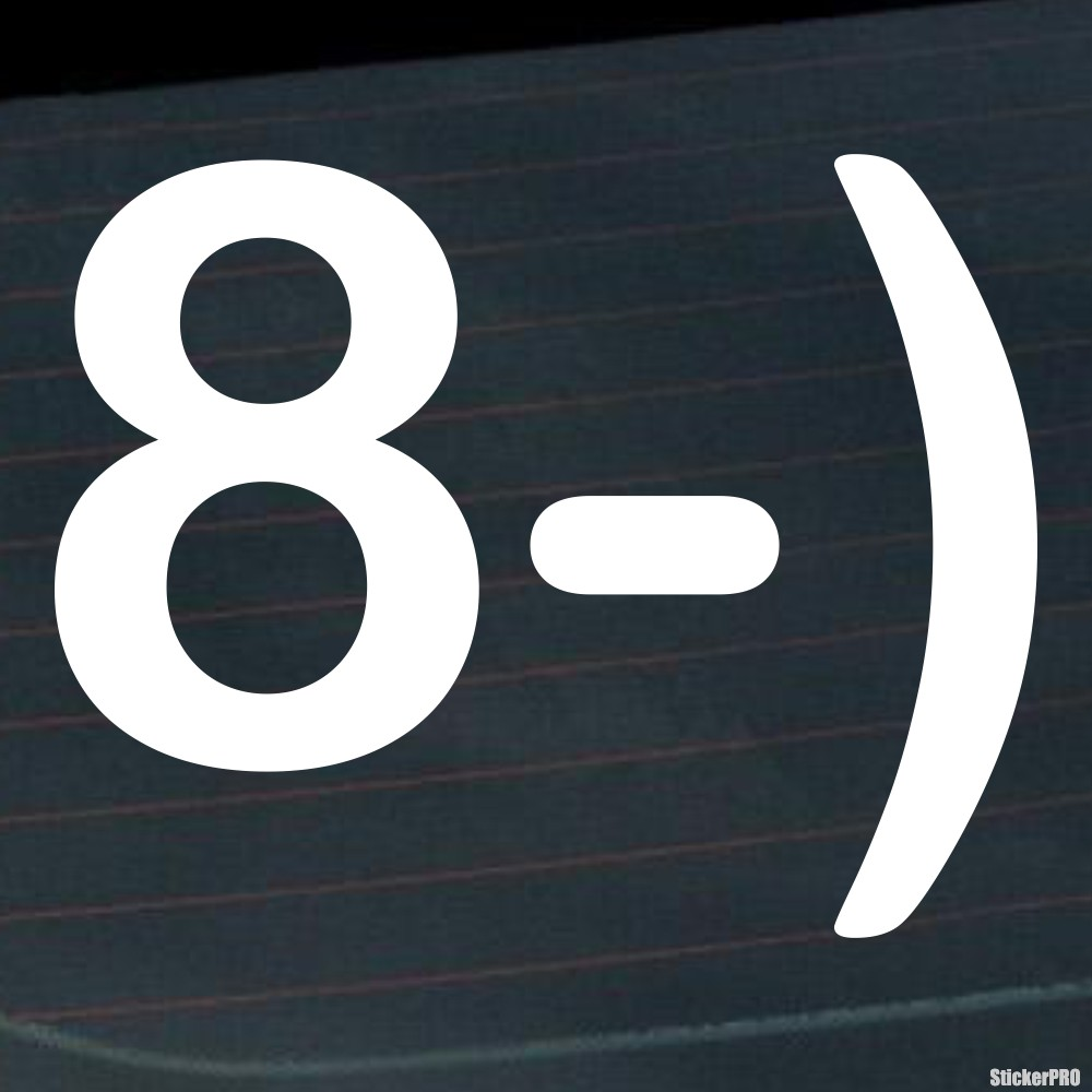 Decal Smiley Face Wearing Glasses Symbols 8 Buy Vinyl Decals For