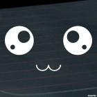 Decal anime smiley with big eyes