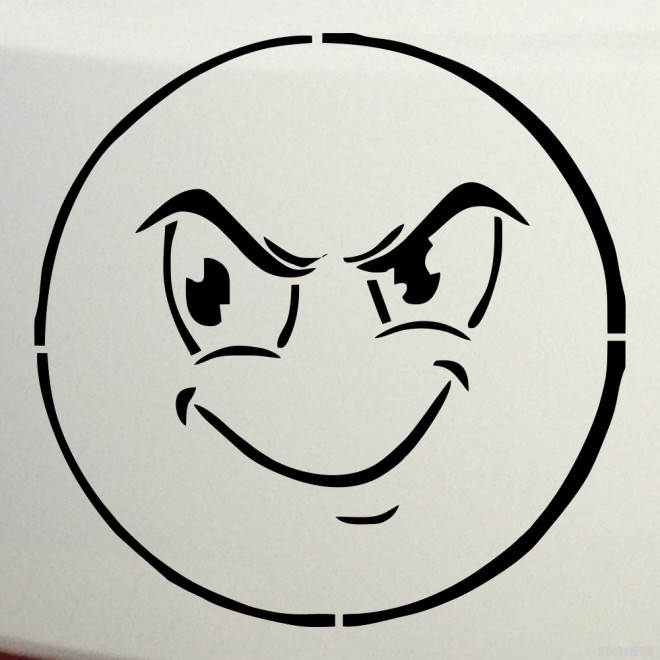 Decal sly smiley