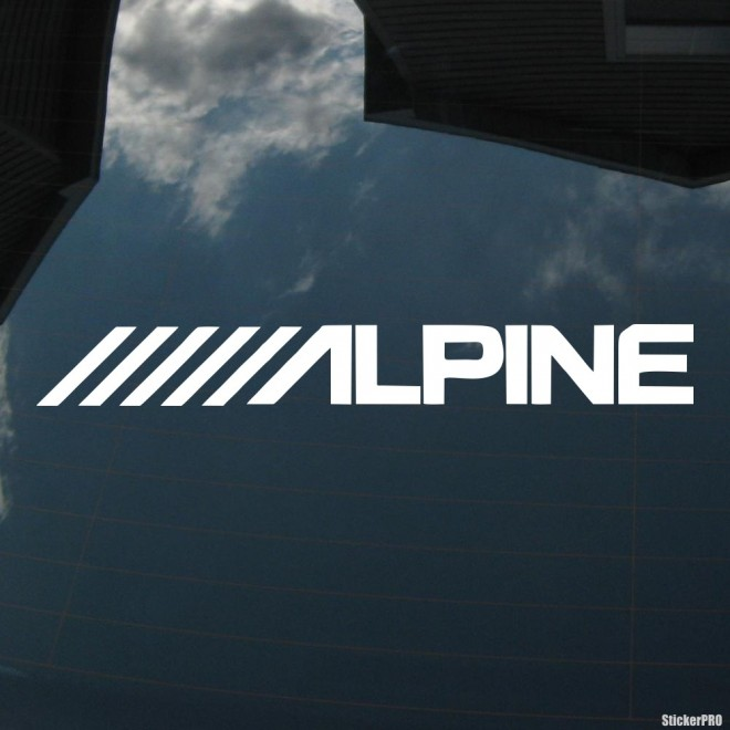 Decal Alpine Japan audio