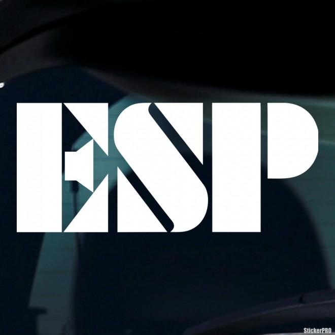 Decal ESP Japanese guitar manufacturer