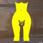 Decal Rock-n-Roll naked girl and gesture