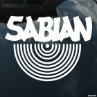 Decal Sabian Canadian cymbal designer and manufacturer