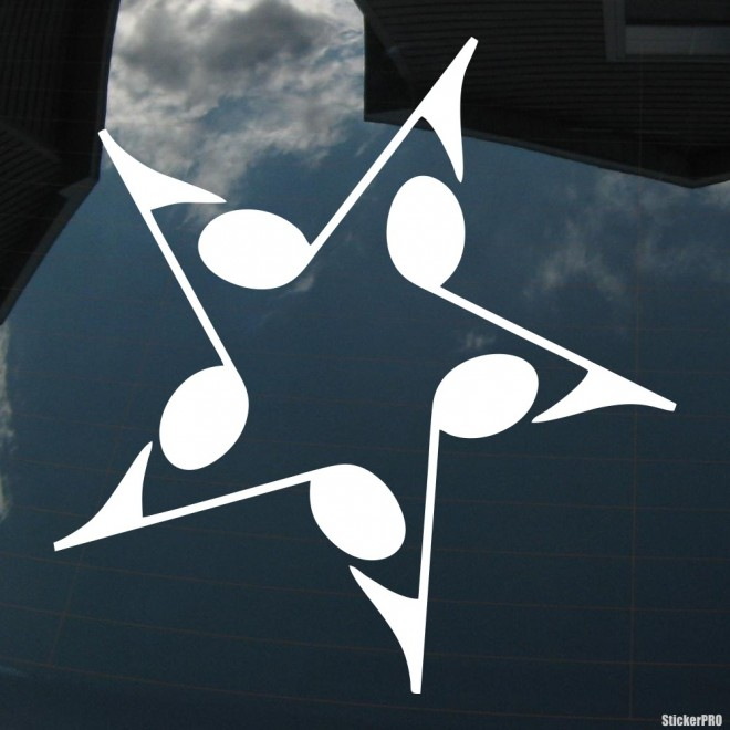 Decal star of the notes