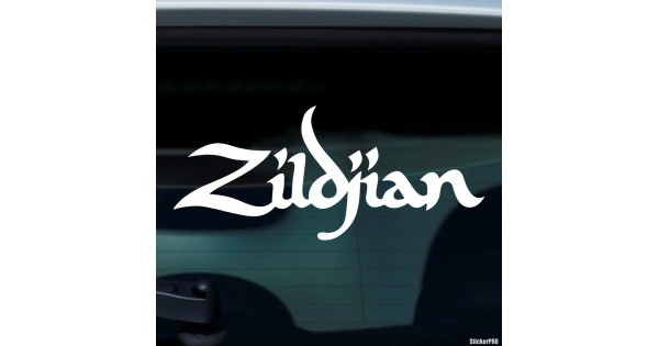 Decal zildjian american cymbal manufacturer buy vinyl decals for car or interior decal factory stickerpro different colors and sizes is avalable