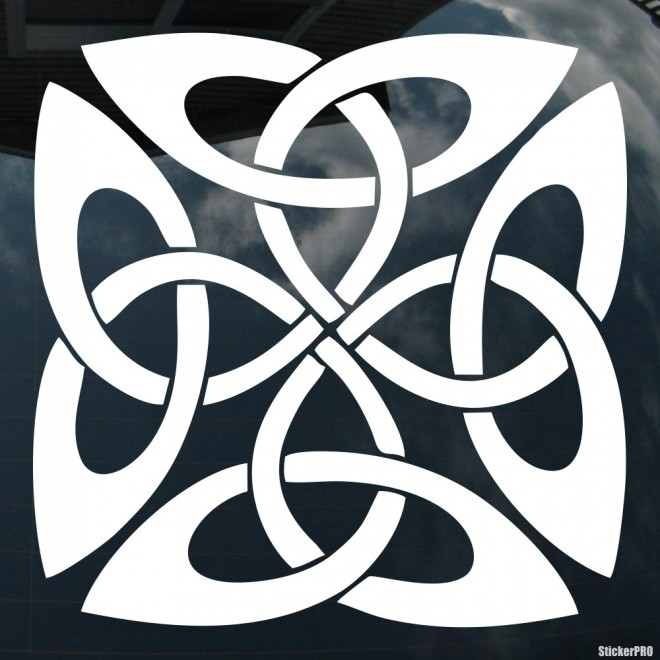 Decal celtic endless knot pattern 11