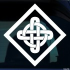 Decal celtic endless knot pattern 10