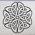 Decal celtic endless knot pattern 3