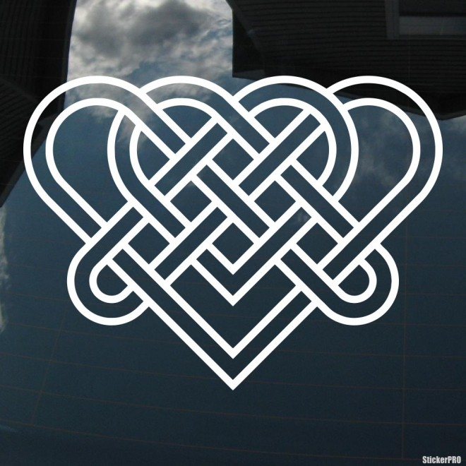 Decal celtic endless knot pattern 2