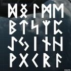 Decal celtic runes pattern