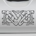 Decal 2 dogs celtic endless knot pattern