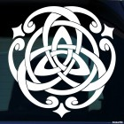 Decal celtic endless knot pattern