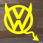 Decal VW Volkswagen devil with horns and a tail