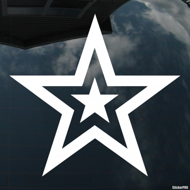 Decal star inside star
