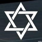 Decal David star Judaism