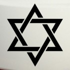 Decal David star Judaism
