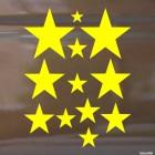 Decal 12 stars