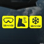 Decal Sheregesh mask, ski boot, snowflake, extreme winter sports