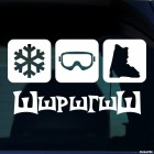 Decal Shshrshgshsh snowflake, mask, ski boot, extreme winter sports